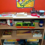 For our nature field trips and for random exploring, we have the Science area where our little scientists have the tools they need.